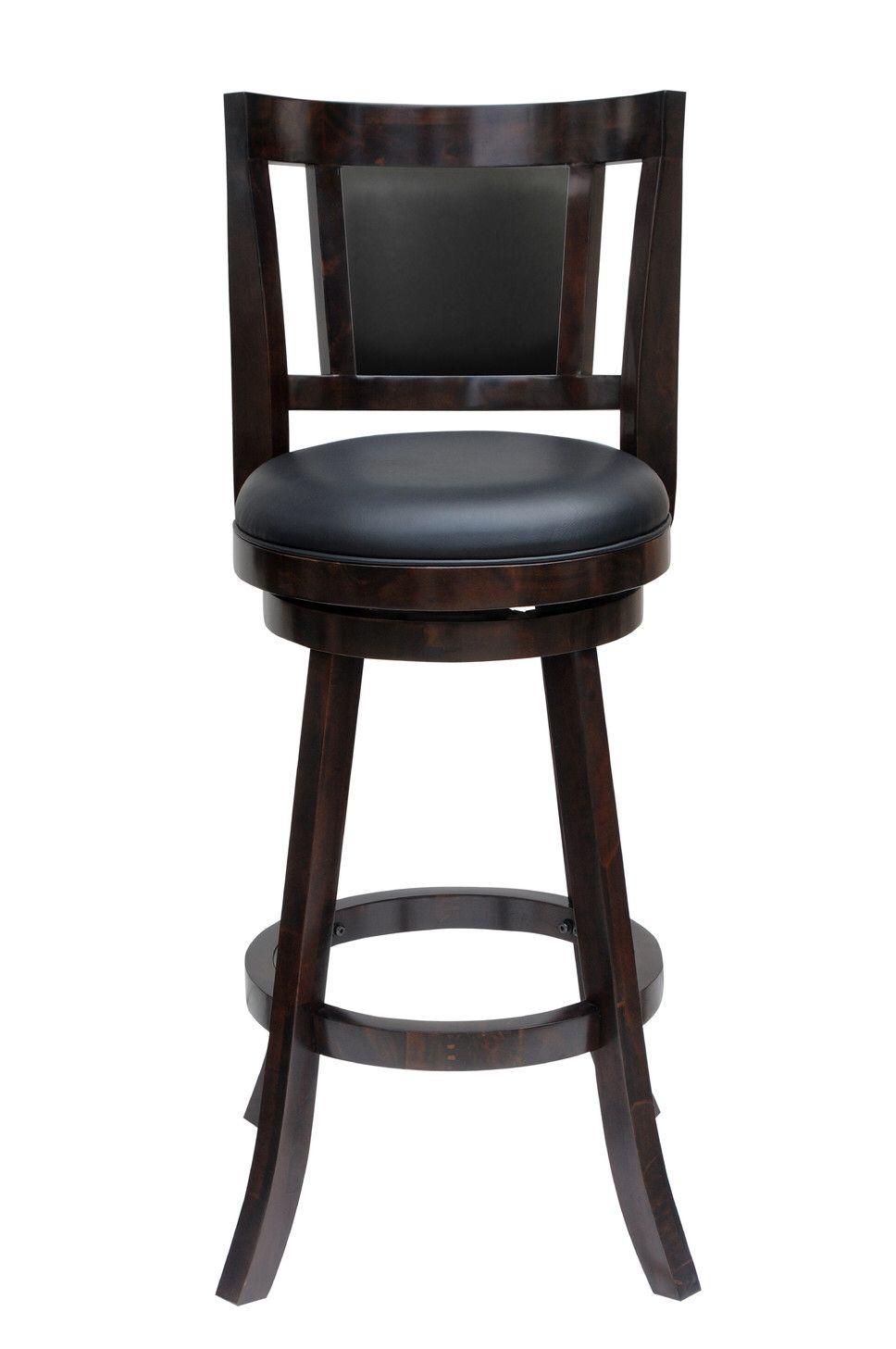 "Avianna 24"" Swivel Bar Stool with Cushion"