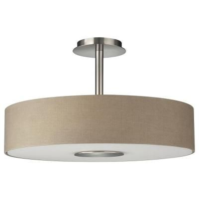 Philips Dani 3 Light Matte Chrome Ceiling Fixture 374811748 The Home Depot 134 Office Hanging Light Lamp Ceiling Fixtures Flush Ceiling Lights