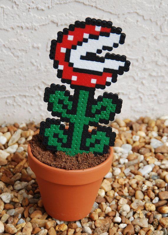 Piranha Plant Perler Bead Plants by adventuresingeekery on Etsy, $17.00