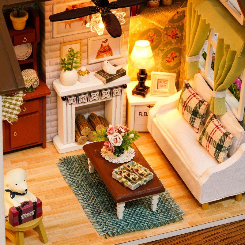 diy handcraft miniature project my little country lodge white wooden rh pinterest com