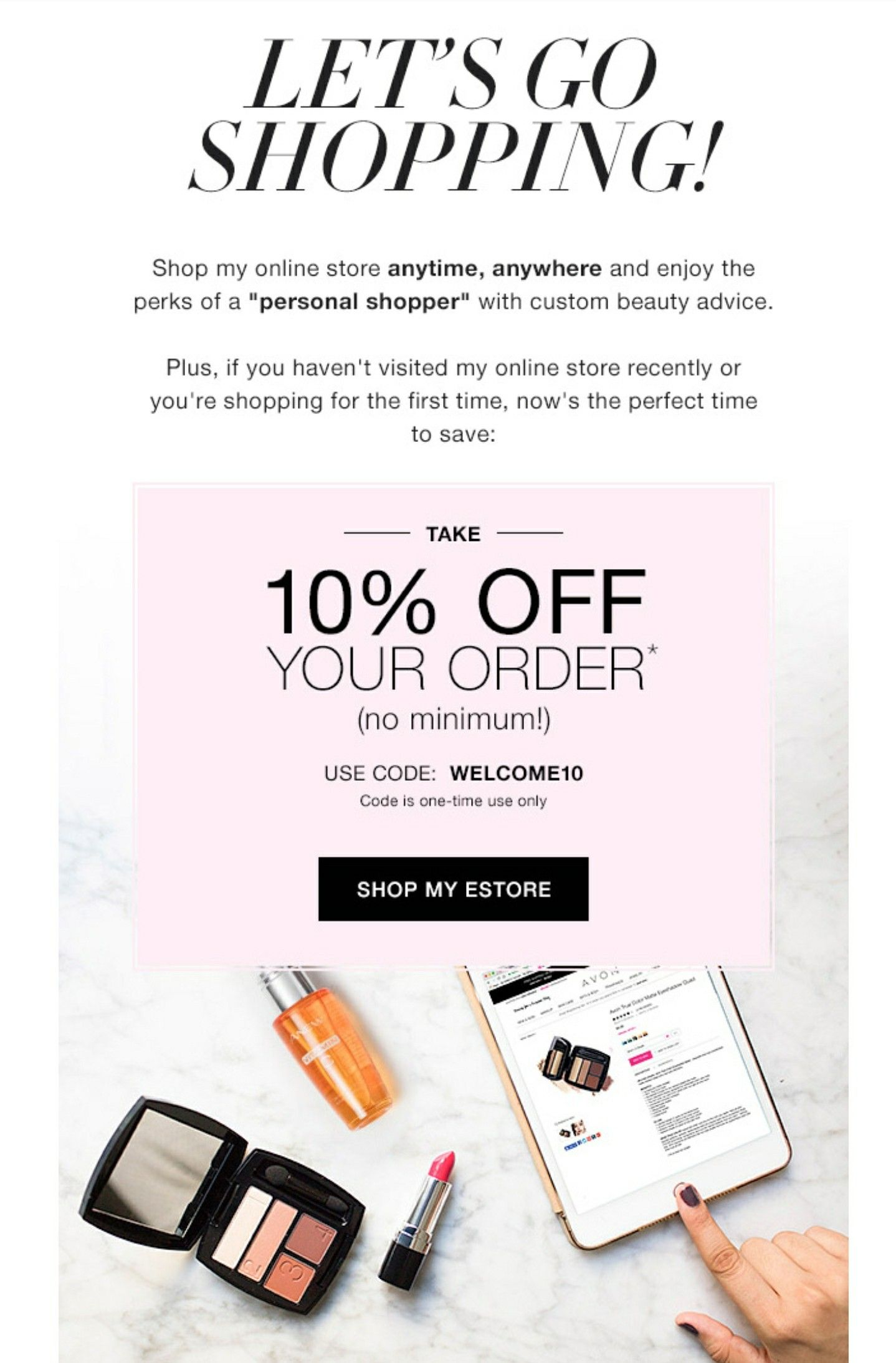 10 Off Your Avon Order Use Coupon Code Welcome10 At My Estore
