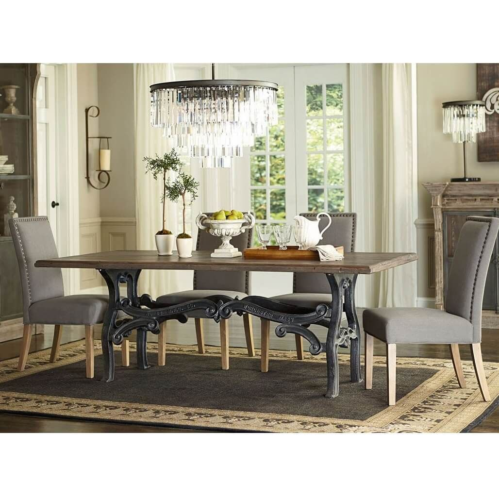hobbs french industrial dining room table 84 industrial furniture rh pinterest com