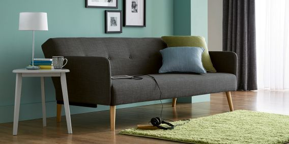 buy finnley medium sofa 3 seats simple contemporary charcoal from rh pinterest co uk