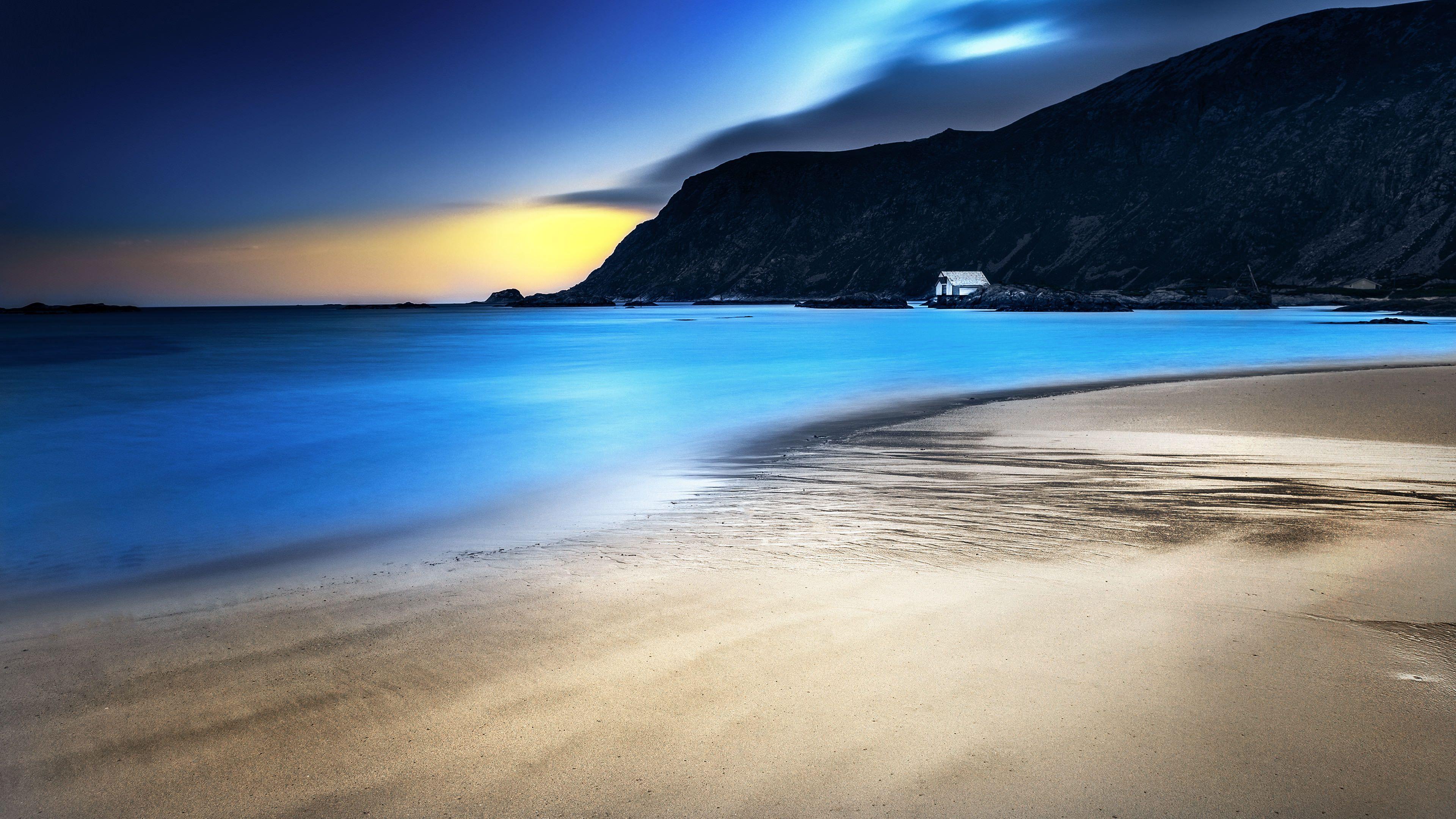 night beach 3840 x 2160 hdwallpaper wallpaper image hd rh pinterest com