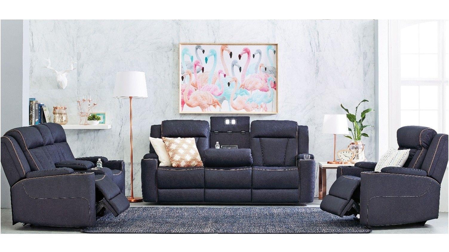 trinity 3 seater fabric lounge powered recliner house renovation rh pinterest com