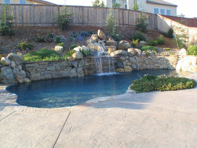 Pool Built Into Hillside Bing Images Swimming Pools