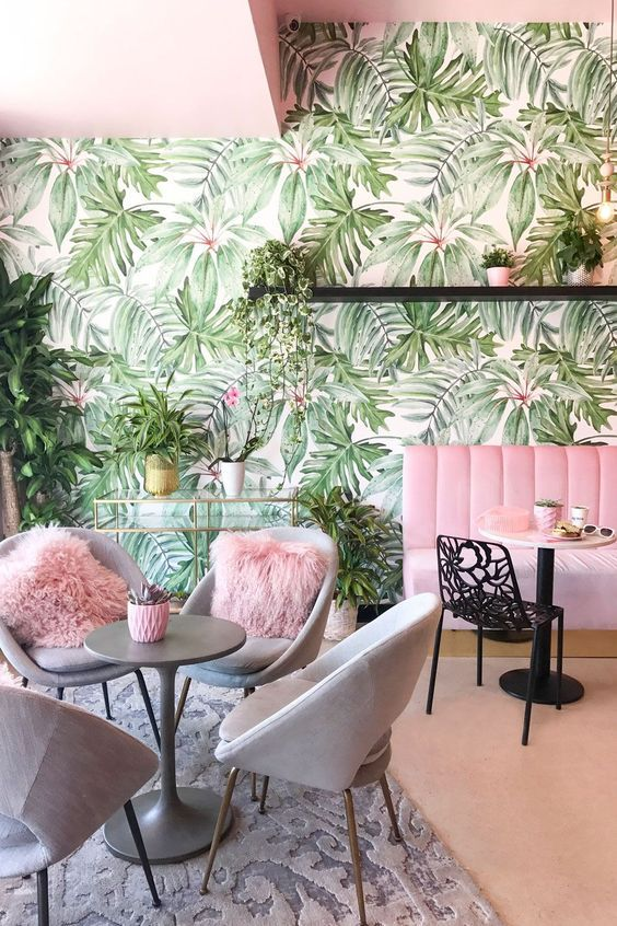 Photo of Tropical Decor Trend – Interior Decor Inspirations / Modern Mid-Century Furniture