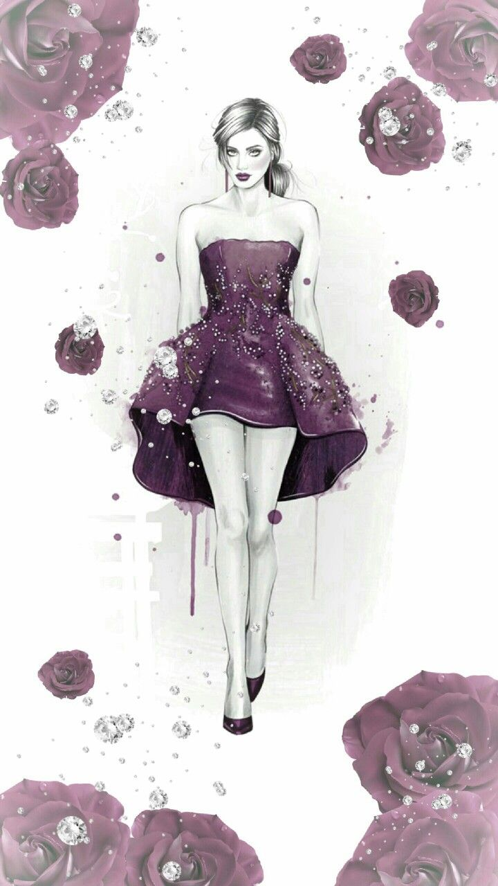 ꭵꮲhsnye ꮃallpapyerѕ Fashionista Art Girl Sketch Fashion