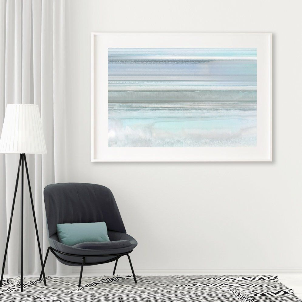 Poster print soft cool stone lines calming wall art poster print