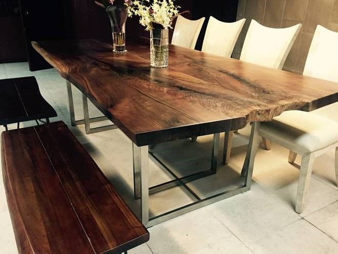 sustainable dining table live edge solid wood natural misc rh pinterest com