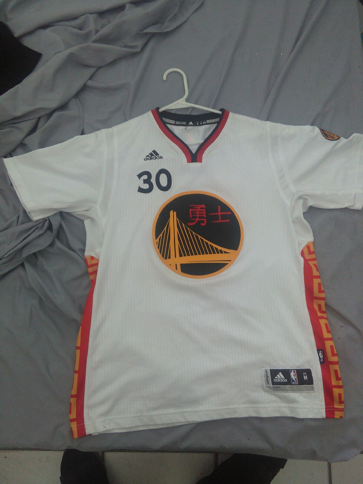 Stephen Curry warriors Chinese New Year sleeve jersey