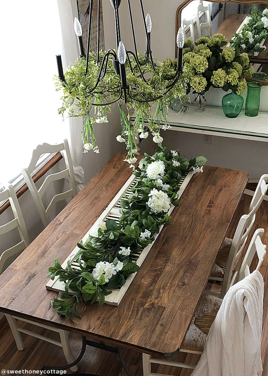 Artificial Lamb's Ear Leaf and Grapevine Garland 6' in
