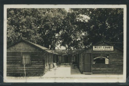 CA-Clearlake-Highlands-RPPC-1927-WEST-COURT-Motel-CABINS-Groceries-Provisions