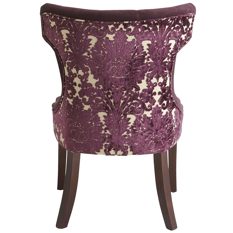 Beau Hourglass Dining Chair   Purple Damask. Pier 1