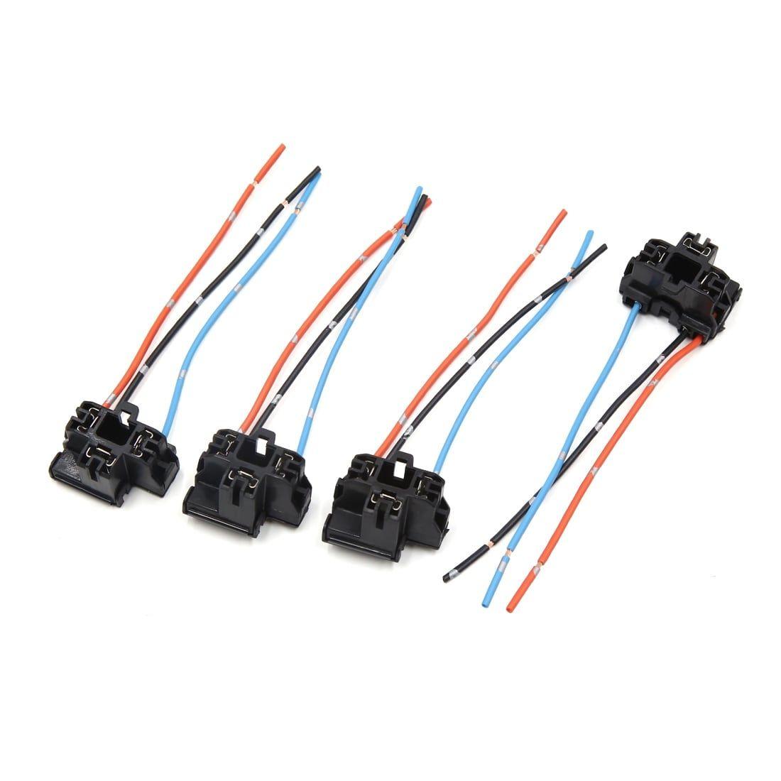 2 Pcs H4 Plastic Wire Wiring Car Head Light Bulb Harness Socket A Connector