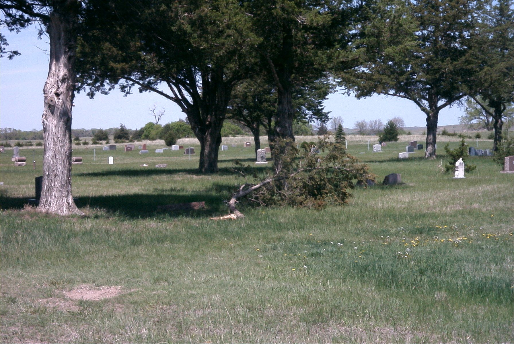 Inside the Brewster Cemetery east of Brewster, Nebraska.