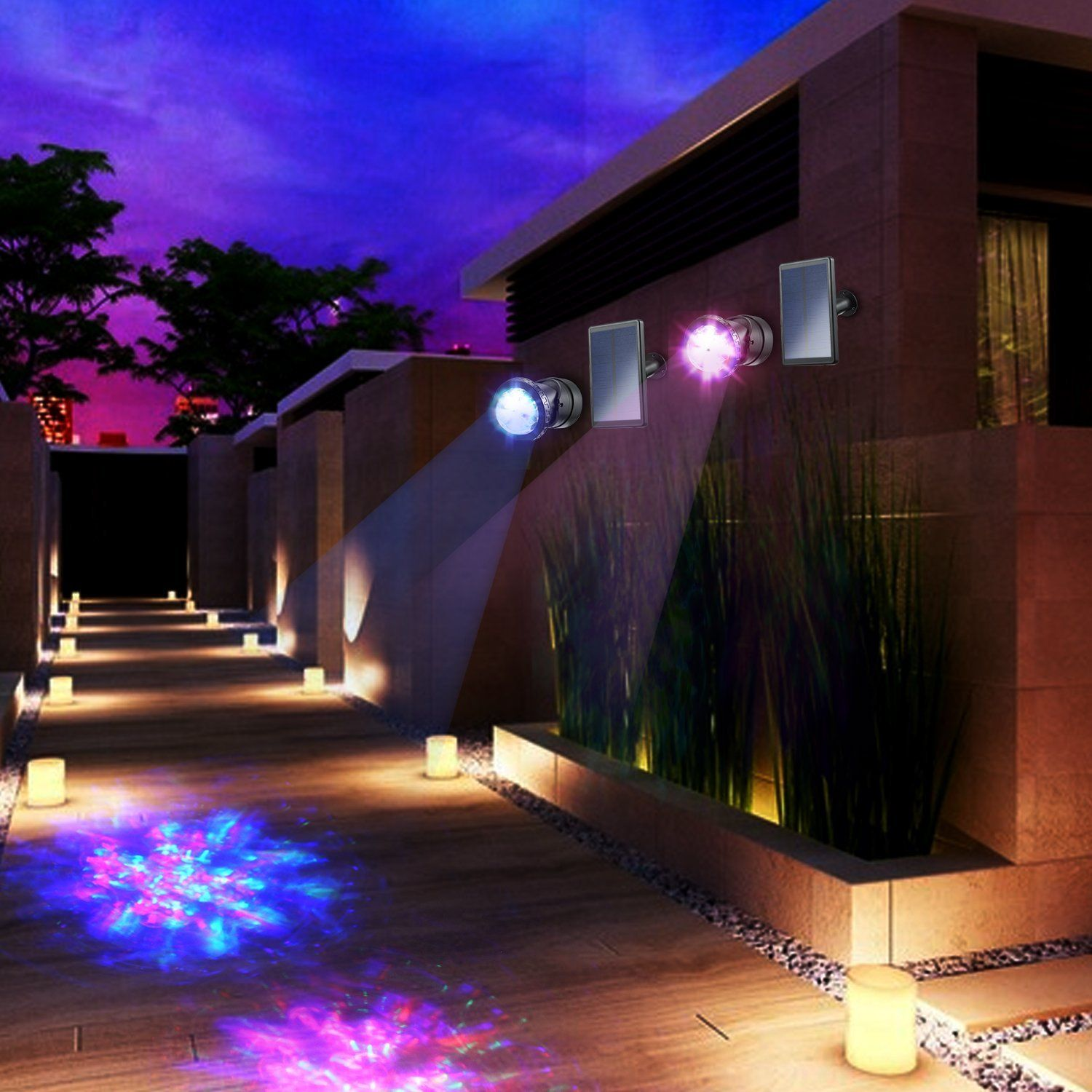 Creative Design Multicolored Solar Led Lights 1479