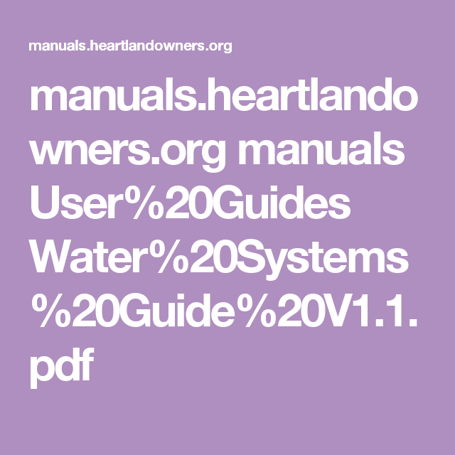 20guide manual array manuals heartlandowners org manuals user guides water systems rh pinterest fandeluxe Choice Image