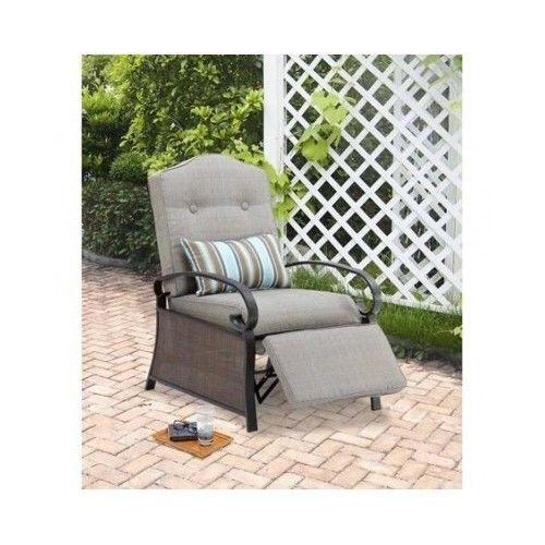 furniture outdoor garden chair recliner cushion ashwood gray kus920a rh pinterest com