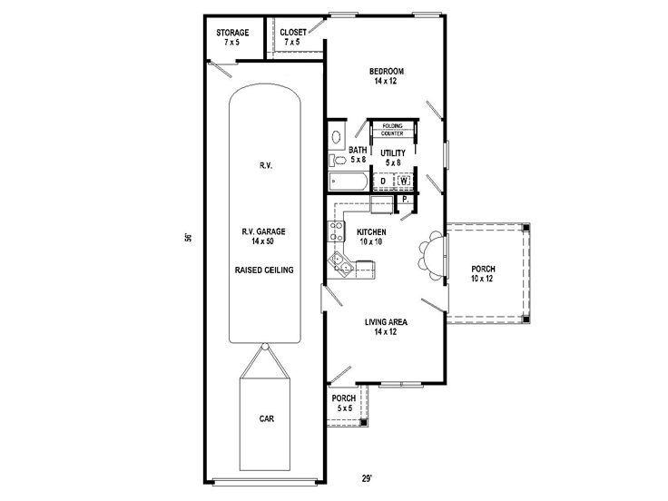 Floor Plan 006g 0160 Garage Floor Plans Rv Garage Plans Garage Plans