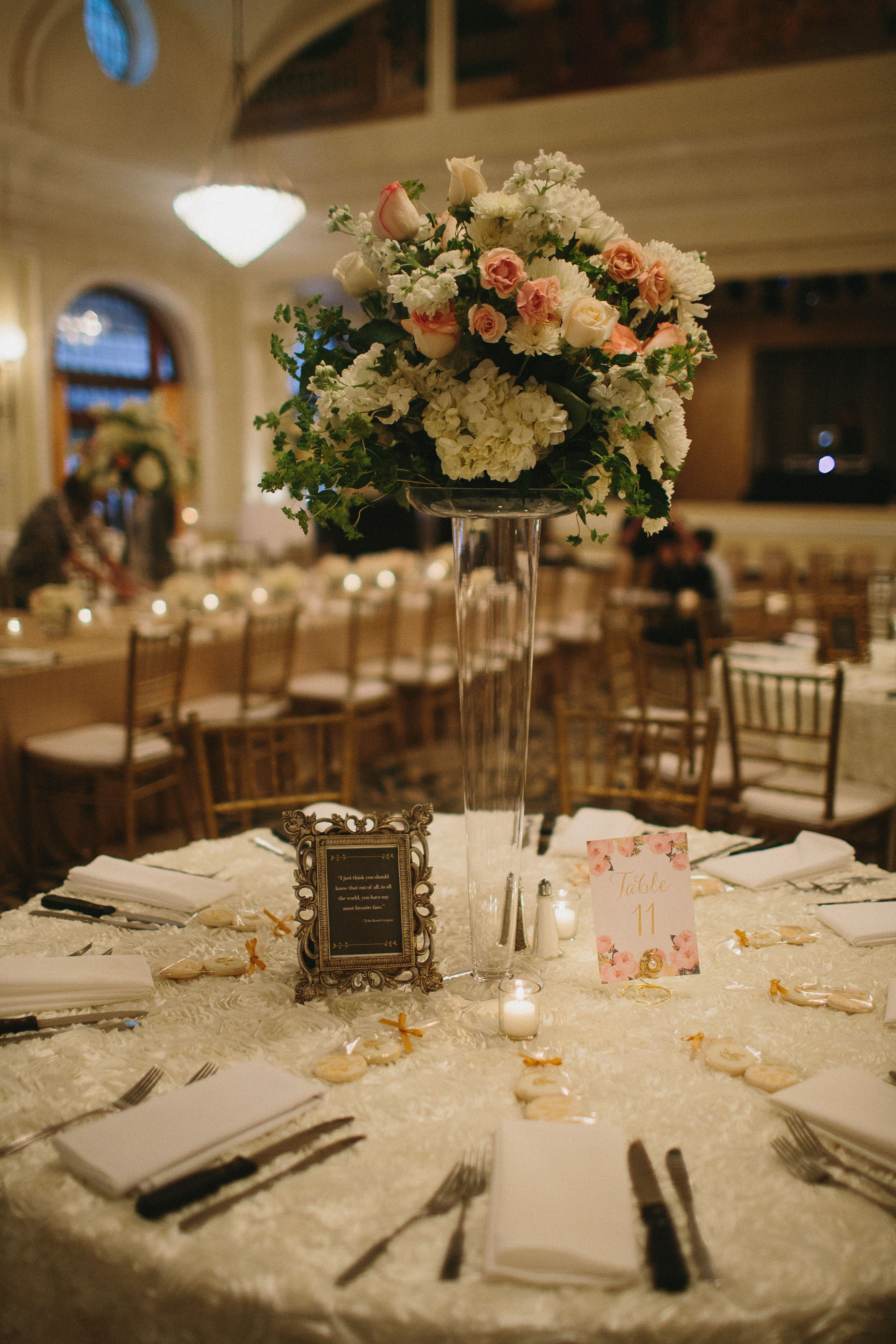 blush and ivory tall floral centerpiece wedding flowers in 2019 rh pinterest com