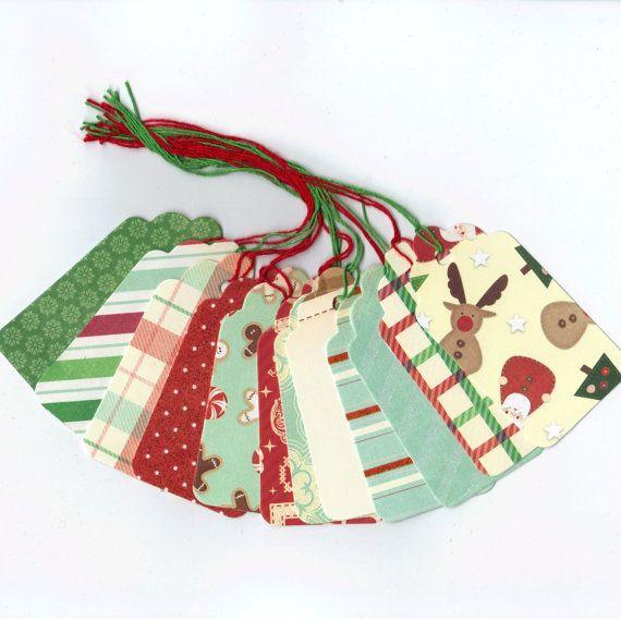 Christmas Clearance Gift Hang Tags - Tis The Season - Large Scallop - christmas clearance decor