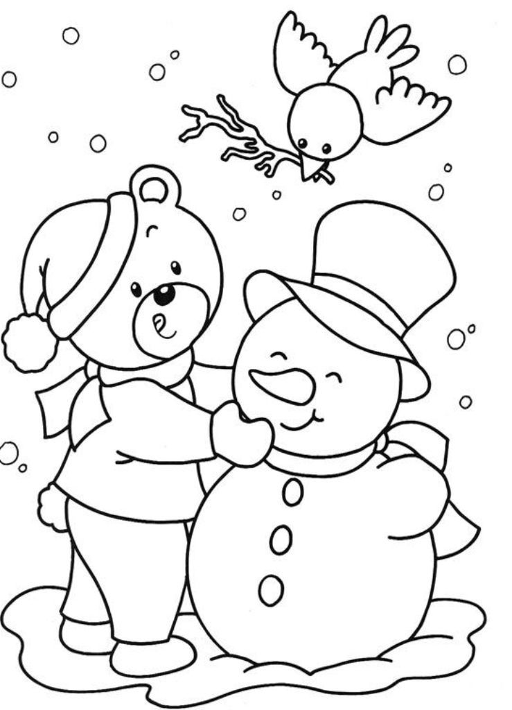 Simple Winter Coloring Pages Color These Beautiful Winter Coloring Ideas With Kids Coloring Pages Winter Snowman Coloring Pages Printable Coloring Pages