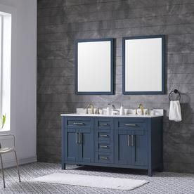 ove decors tahoe midnight blue double sink vanity with bombay white rh pinterest com