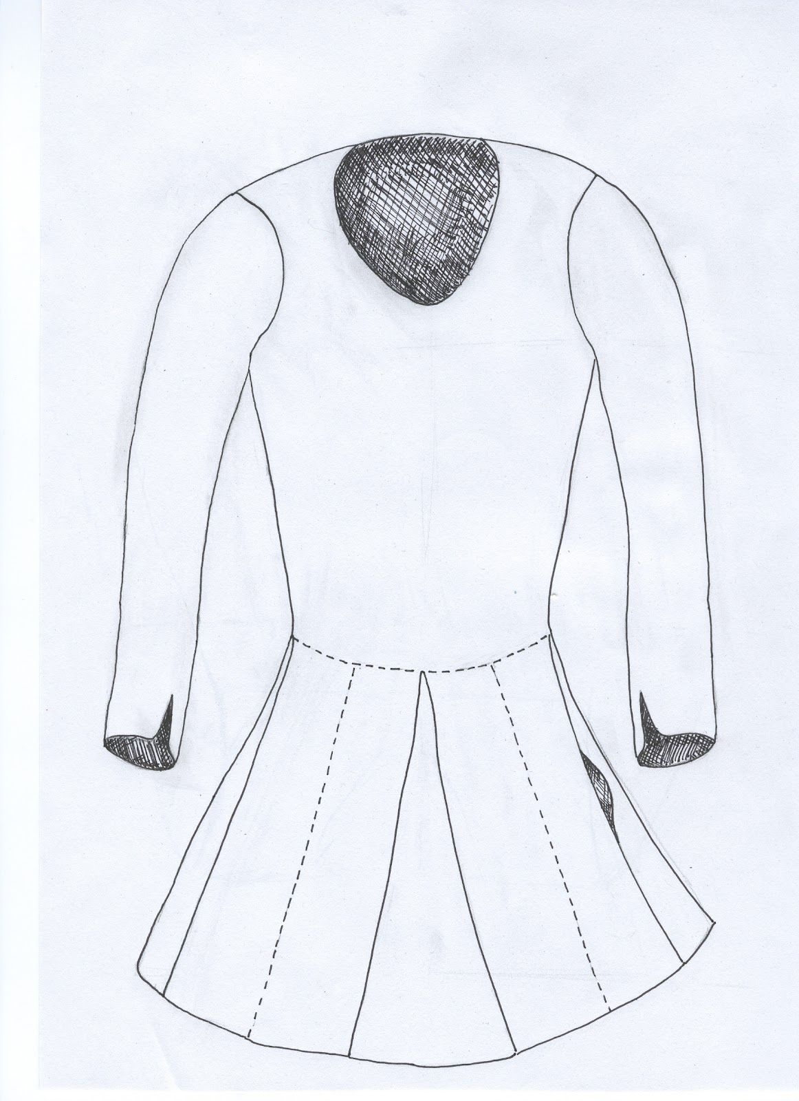 Reconstruction of a tunic from Haithabu based on info in