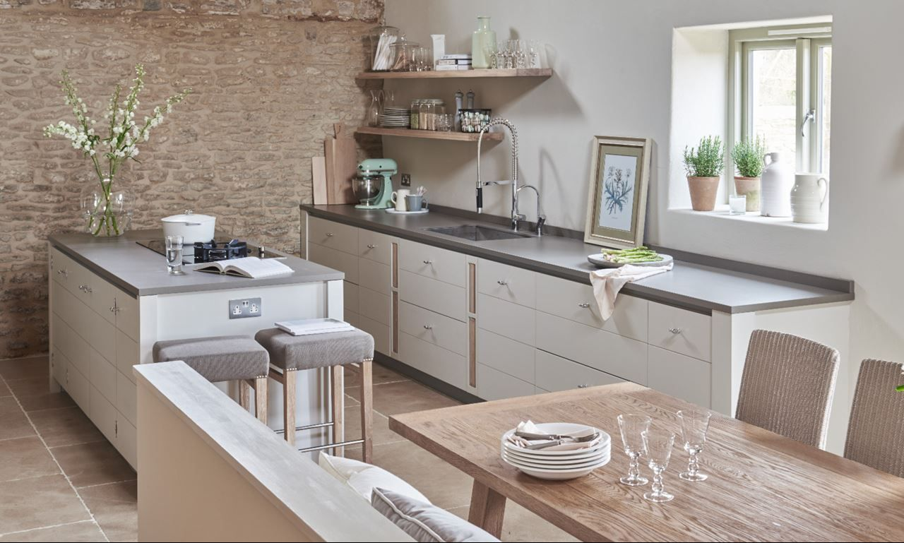 Marble granite oak country or contemporary kitchen