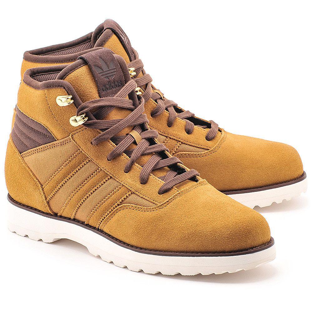 Adidas Navvy 2 0 Musztardowe Skorzane Trapery Meskie Buty Mezczyzni Trapery Mivo Brown Trainers Trainer Boots Leather