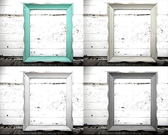 8x10 Wavy Frame - Rustic Vintage Frame in Shabby Chic Distressed ...