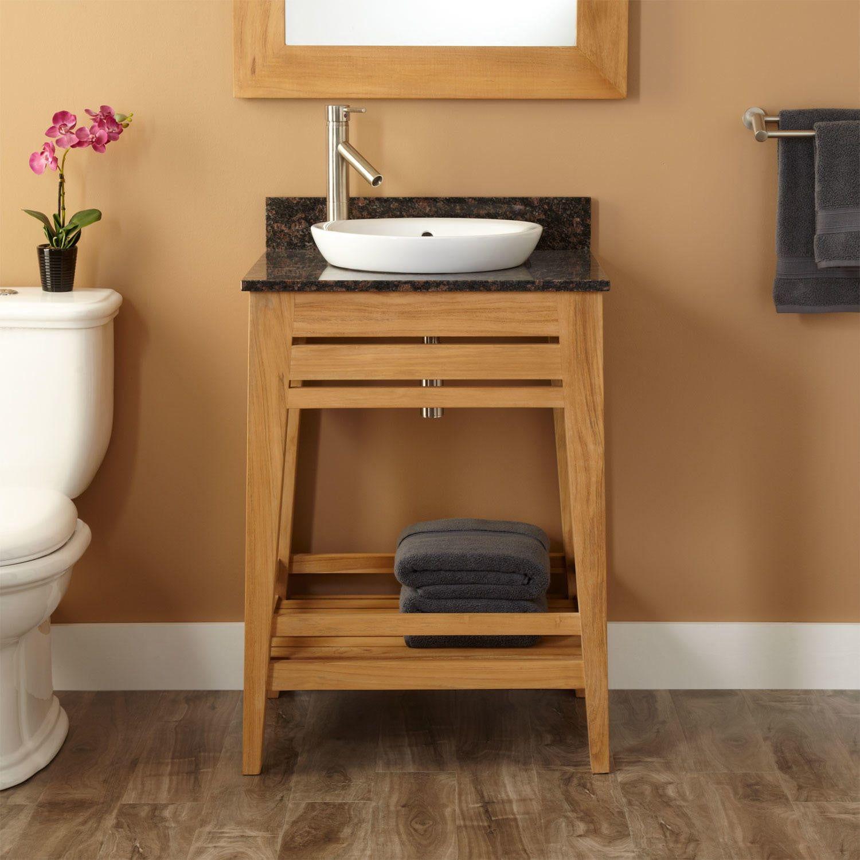 24 aurelia teak vanity for semi recessed sink in 2019 new home rh pinterest com