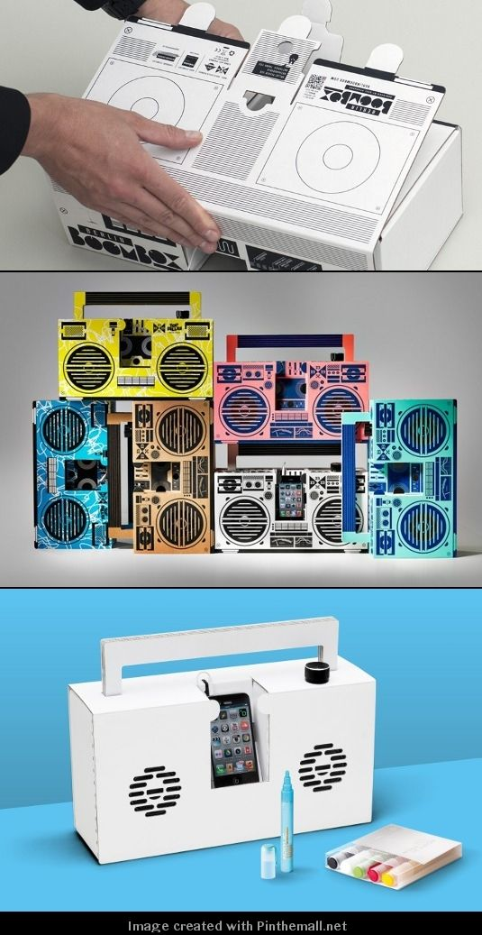 Berlin Boombox designed by DJ and designer Axel Pfaender :: cool and fun mobile speaker system with eye-catching design