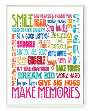 'Make Memories' Wall Art