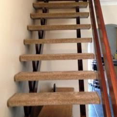 Open Staircase Carpeted Tread