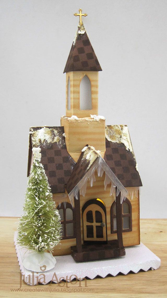 Create With Me: December A Vintage Journey Challenge - Vintage Christmas Tim Holtz Village Dwelling die