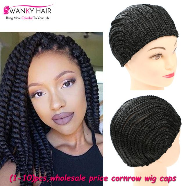 Hot Sell Easier To Sew In Braided Cornrow Wig Caps For Making Wigs 1 10 Pcs Cornrow Lace Wig Caps For Weave Black Cap Lace Wigs Wigs Crochet Braids Hairstyles