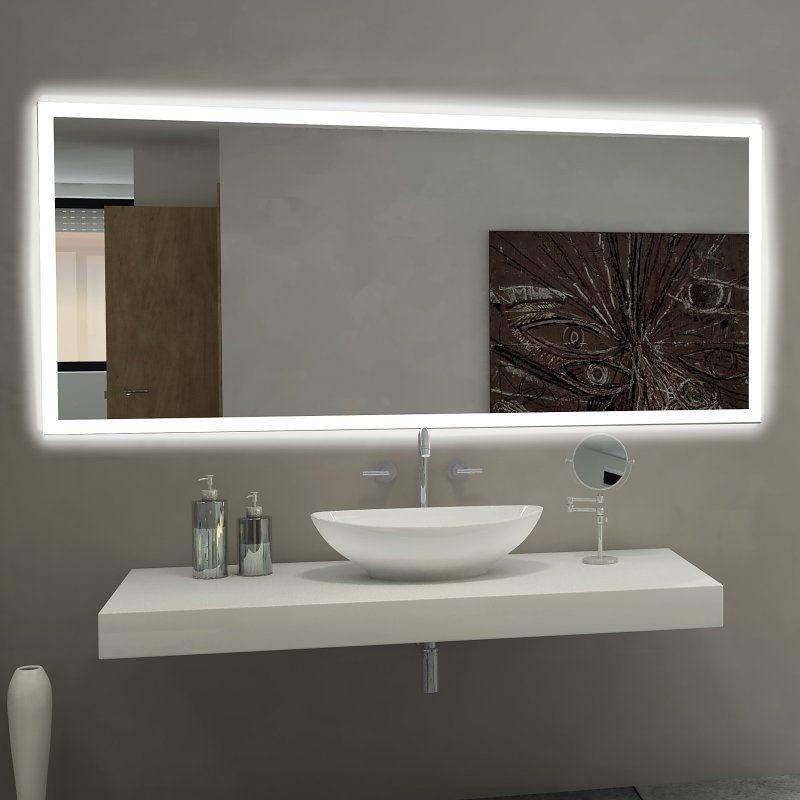 Paris Mirror Rectangle Bathroom Mirror with LED