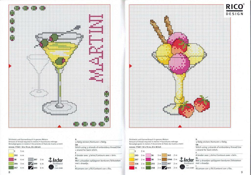 Patrones punto de cruz en pdf | Aprender manualidades es facilisimo.com
