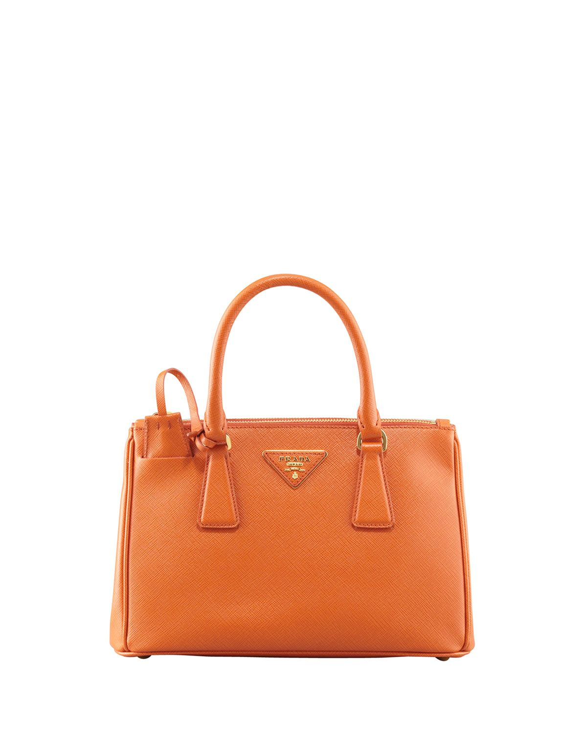 613ec96b3aad Saffiano Double-Zip Mini Crossbody, (Orange) Papaya | I want this ...