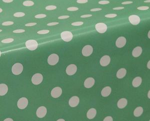 Delightful Polka Dots Spots Wipe Clean Tablecloth Oilcloth Vinyl