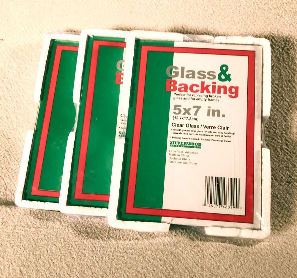 5x7 Picture Frame Glass Backing For 5x7 Frames Qty 3 Craft Glass