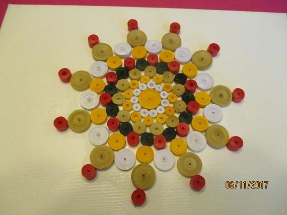 Quilled mandala, wall decor, quilled circles,,circular art, paper ...