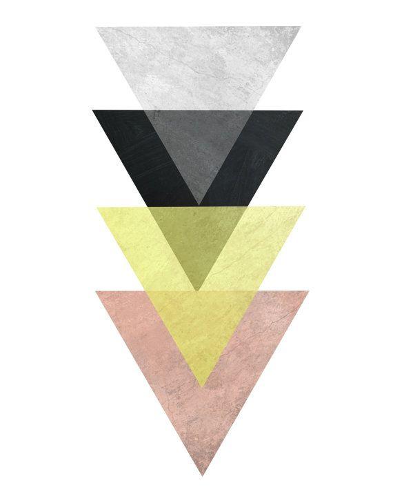 Scandinavian Art, Triptych, Geometric Art, Printable Art, Set of 3 ...