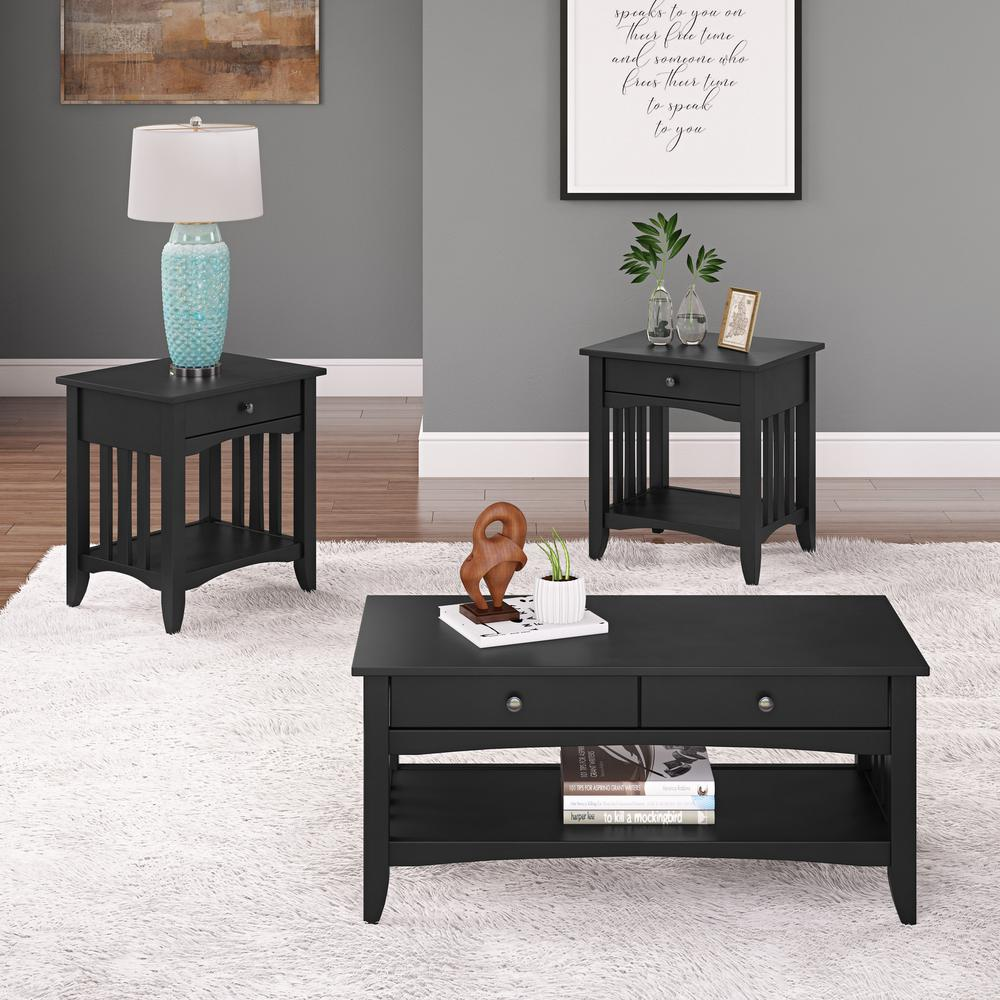 Best Corliving Crestway 3 Piece Black Coffee Table And End 640 x 480