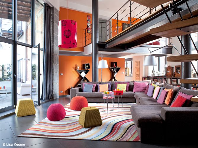 Colorful loft in belgium modern interior design home interior