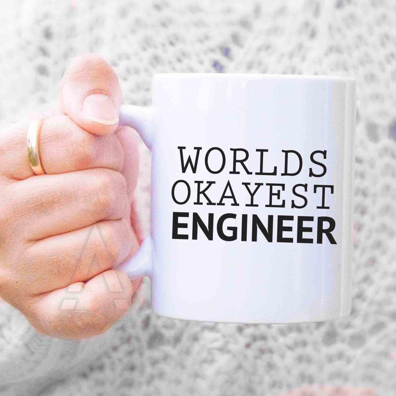 Engineer Graduation Gift Worlds Okayest Coffee Mug Birthday Gifts For Retirement Funny MU190 By ArtRuss On Etsy