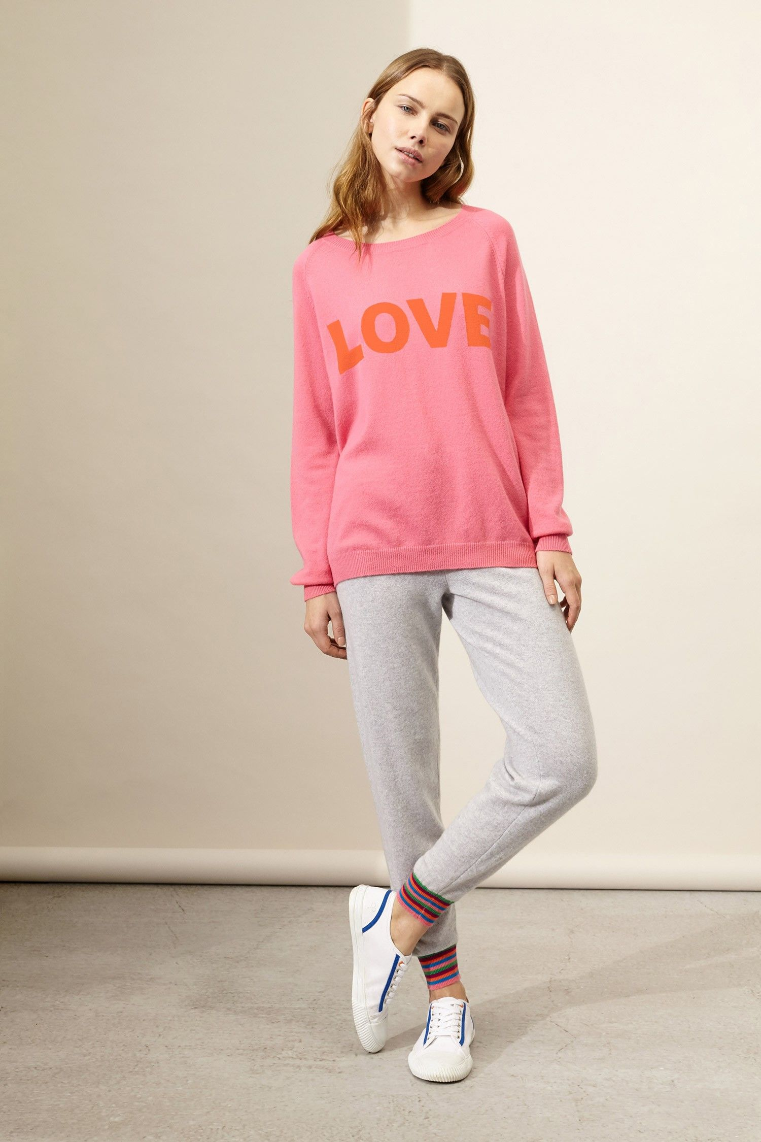 Pink Love Cashmere Sweater | Luxury Cashmere Sweaters | Chinti and ...