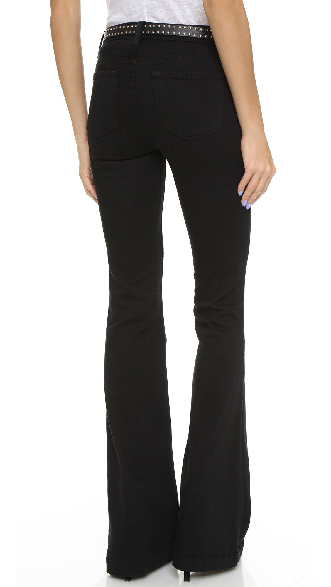 340d44618c77e J Brand Womens Maria High Rise Flare Jeans Seriously Black 25     Details  can be found by clicking on the image. (This is an affiliate link)   fashionjeans